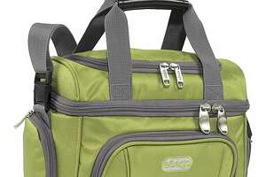 The Crew Cooler Jr. by eBags features two compartments and numerous pockets for toting lunch and essentials.