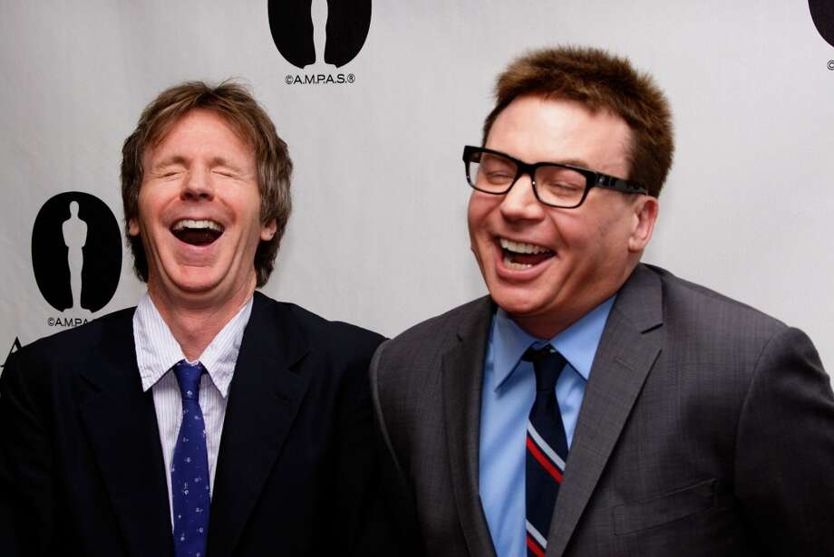 Mike Myers and Dana Carvey attend the Academy Of Motion Picture Arts And Sciences Hosts A \'Wayne\'s World\' Reunion at AMPAS Samuel Goldwyn Theater on April 23, 2013 in Beverly Hills, California.