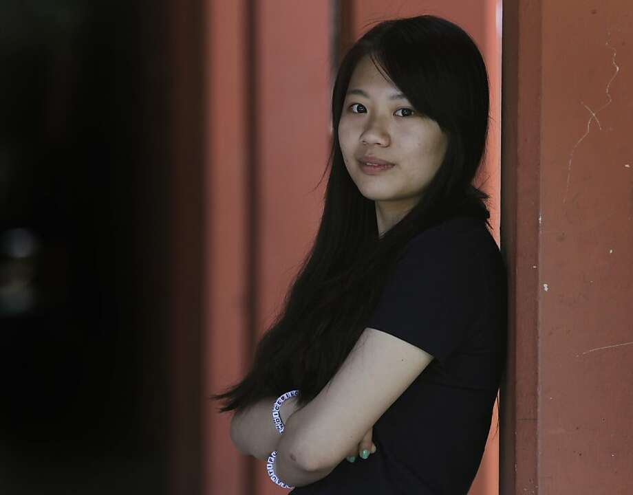 Xinyi Li says she is happy to live in this country but is still learning to fit in. Photo: Paul Chinn, The Chronicle