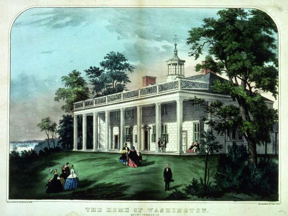 Moving over to Virginia, here's an 18th-century depiction of George Washington's home, Mount Vernon. Photo: MPI, Getty Images / Archive Photos