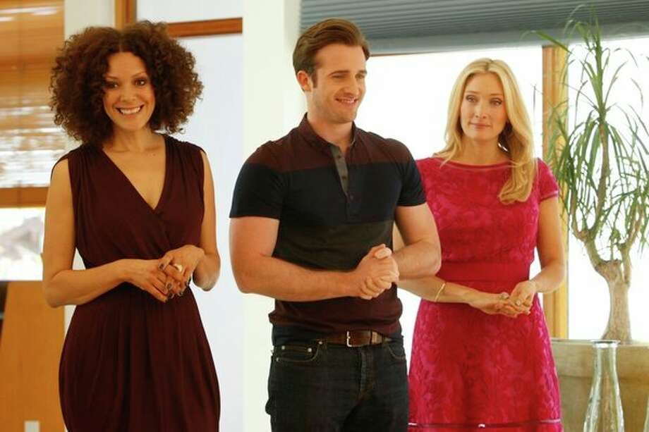 """Ready for Love,"" ""Love Connections"" Episode 103 -- Pictured: (l-r) Tracy McMillan, Matt Hussey, Amber Kelleher-Andrews Photo: NBC, Vivian Zink/NBC / 2012 NBCUniversal Media, LLC"