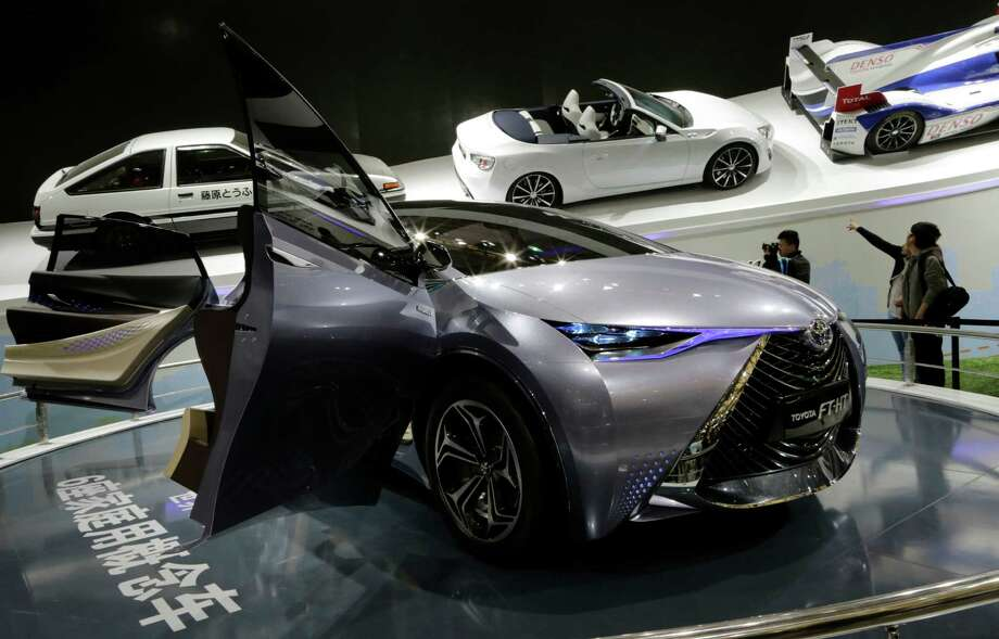 A Toyota FT-HT Yuejia concept car is displayed at the Shanghai International Automobile Industry Exhibition (AUTO Shanghai) in Shanghai, China, Wednesday, April 24, 2013. (AP Photo/Eugene Hoshiko) Photo: Eugene Hoshiko