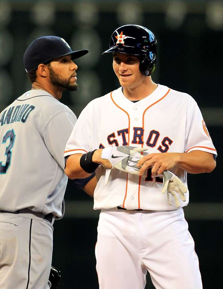 April 24: Astros 10, Mariners 3 Robbie Grossman had two doubles in his major league debut. Photo: Karen Warren, Chronicle