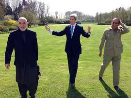 "This April 24, 2013 US State Department handout image shows US Secretary of State John Kerry (C) talking with Afghan President Hamid Karzai (L) and Pakistani Army Chief-of-Staff, General Ashfaq Kayani during a break in a meeting in Brussels. The three met to discuss regional security issues, and the 2014 withdrawal of North Atlantic Treaty Organization (NATO) combat forces from Afghanistan. AFP PHOTO / HO / US State Department              == RESTRICTED TO EDITORIAL USE / MANDATORY CREDIT: ""AFP PHOTO / US State Department / NO MARKETING / NO ADVERTISING CAMPAIGNS / DISTRIBUTED AS A SERVICE TO CLIENTS ==  HO/AFP/Getty Images"