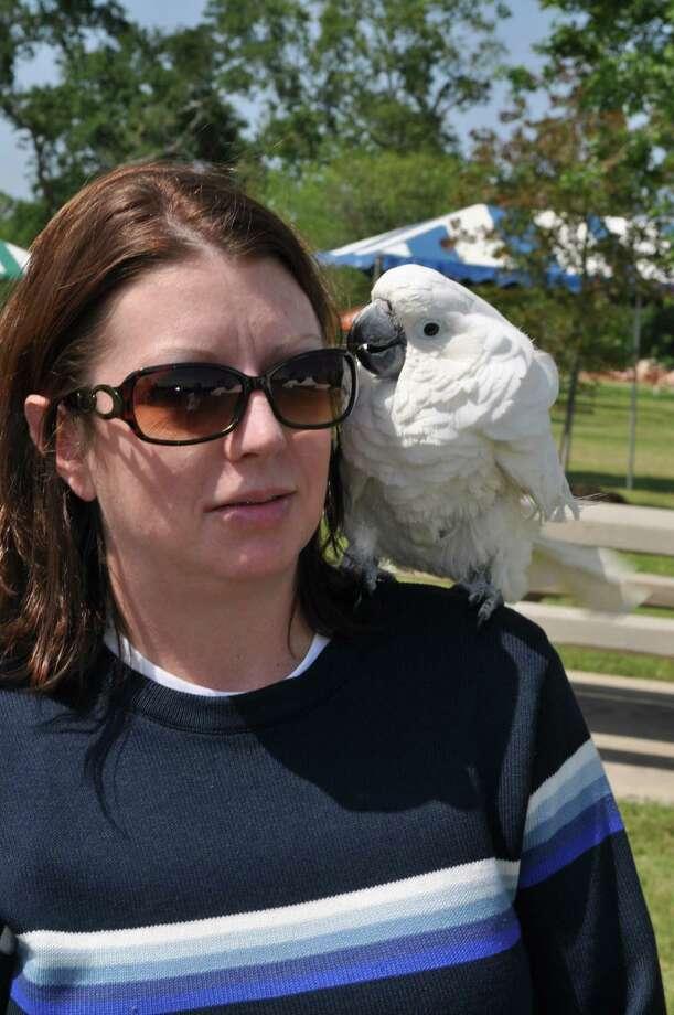 Lona Shipp and a Cockatoo.  Photo: Handout