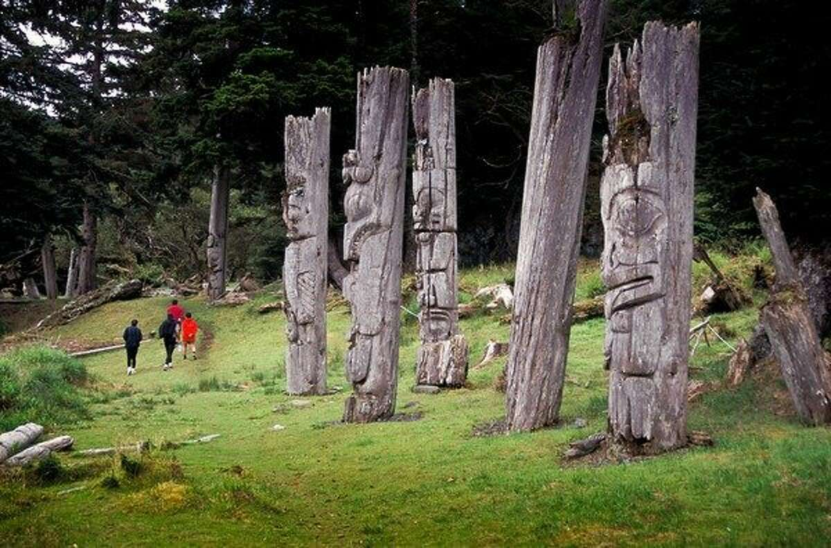 The abandoned village of Skung Gwaii and its Haida totem poles are explored on a new sea-kayaking tour through Gwaii Haanas National Park Reserve in British Columbia.