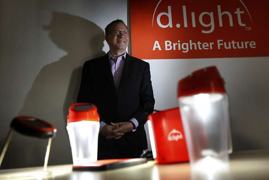 Donn Tice says his company's lights are meant to replace kerosene lanterns, offering users more safety. Photo: Carlos Avila Gonzalez, The Chronicle