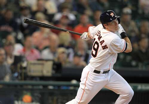 April 24: Astros 10, Mariners 3  Robbie Grossman had two doubles in his major league debut.   Record: 7-14. Photo: Karen Warren, Houston Chronicle