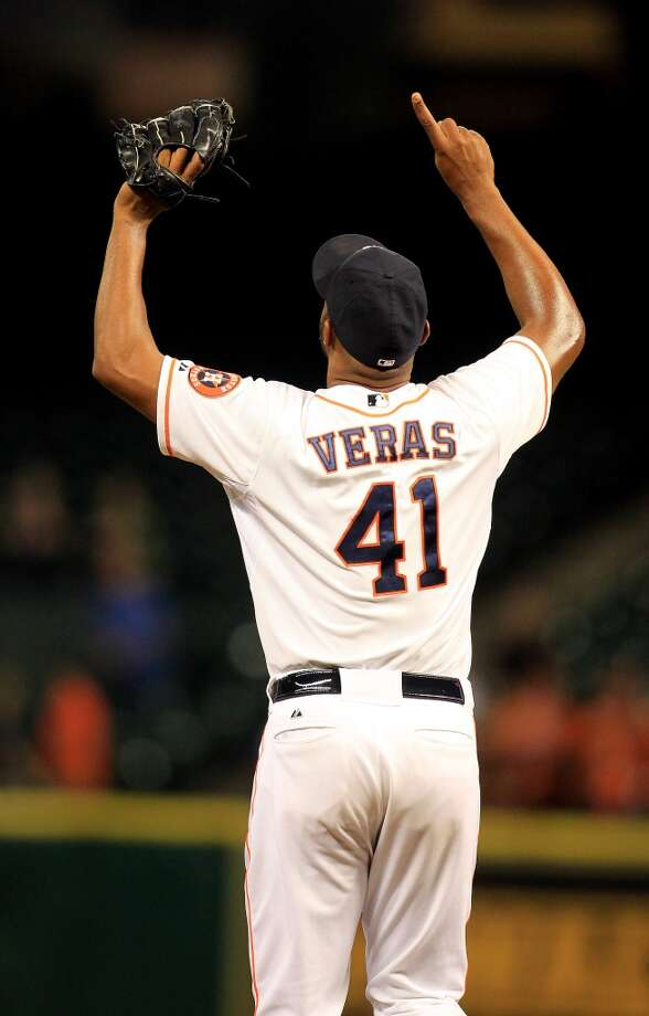 April 23: Astros 3, Mariners 2  Astros starting pitcher Bud Norris started and closer Jose Veras closed out the Astros' win against the Mariners to pull even in the series.  Record: 6-14. Photo: Karen Warren, Houston Chronicle