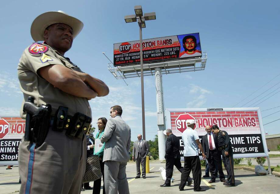 Texas DPS Sgt. John Sampa, on hand for a news conference on U.S. 59 North in Humble about the digital billboards, can attest to the campaign's effectiveness. Photo: Melissa Phillip, Staff / © 2013  Houston Chronicle