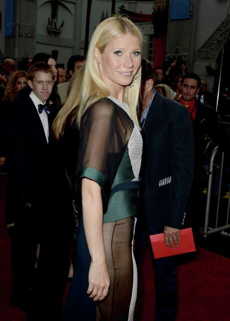 """HOLLYWOOD, CA - APRIL 24:  Actress Gwyneth Paltrow arrives at the premiere of Walt Disney Pictures' """"Iron Man 3"""" at the El Capitan Theatre on April 24, 2013 in Hollywood, California.  (Photo by Kevin Winter/Getty Images) Photo: Kevin Winter, Staff / 2013 Getty Images"""