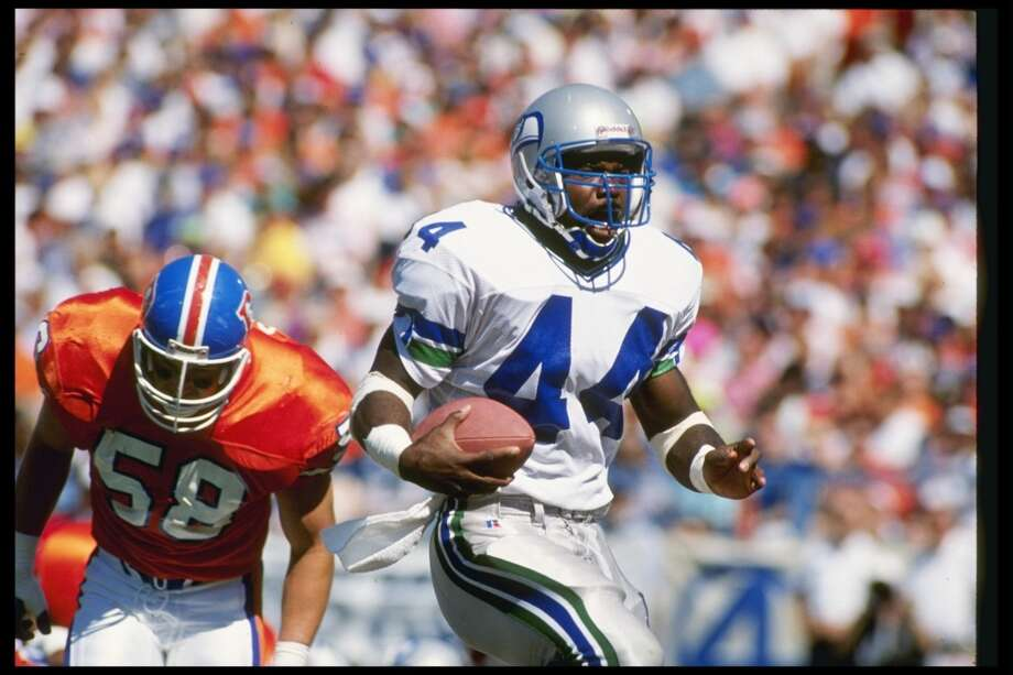1989: Derrick Fenner10th round, 268th-overall pick | Position: Running back | College: North CarolinaFenner found himself in trouble during college, spending time in jail on a murder charge that eventually got dropped and pleading guilty to cocaine possession in 1988. After getting booted by the Tar Heels, he declared early for the draft and dropped to the 10th round, where the Seahawks picked him up. Fenner didn't see much action his rookie year, but in 1990 as the Seahawks' starting running back he rushed for 859 yards and led the NFL with 14 rushing touchdowns, plus one more score through the air. In 1992 he became a Bengal, and spent three years each in Cincinnati and Oakland before retiring after the 1997 season with 2,996 career rushing yards and 42 touchdowns. Photo: Tim DeFrisco, Getty Images