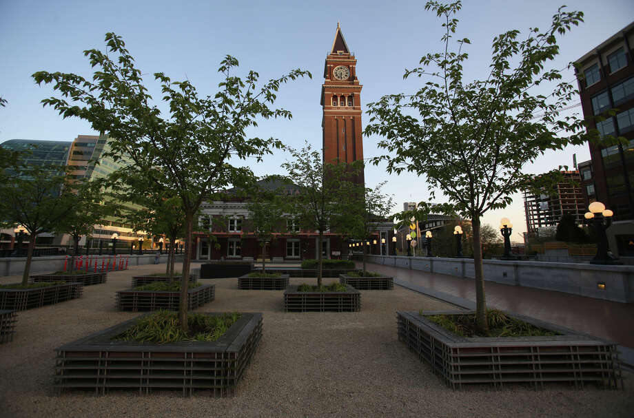 The King Street Station courtyard is shown after a public reopening of the waiting area at the station. Photo: JOSHUA TRUJILLO, SEATTLEPI.COM / SEATTLEPI.COM