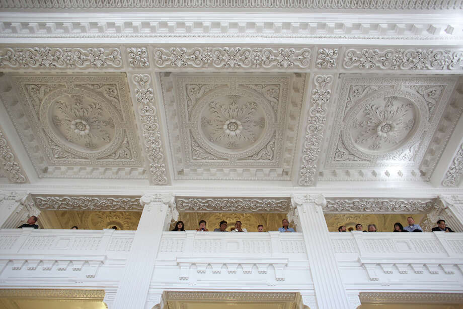 The waiting area ceiling is shown during the grand reopening of the King Street Station waiting area on Wednesday, April 24, 2013. Photo: JOSHUA TRUJILLO, SEATTLEPI.COM / SEATTLEPI.COM