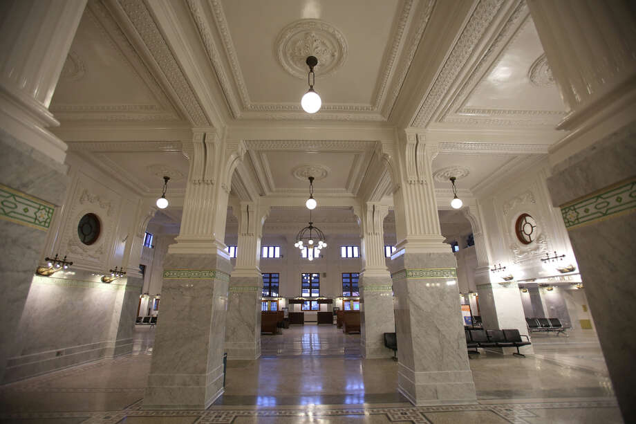 The King Street Station waiting area is shown after the grand reopening on Wednesday, April 24, 2013. The City of Seattle spent years working on the building after it suffered decades of neglect. Photo: JOSHUA TRUJILLO, SEATTLEPI.COM / SEATTLEPI.COM