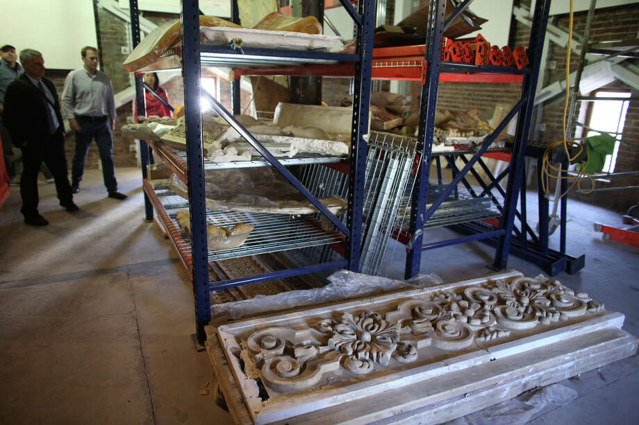 Plaster casts and molds used for repairs are shown where they are stored in the clock tower. Photo: JOSHUA TRUJILLO, SEATTLEPI.COM / SEATTLEPI.COM