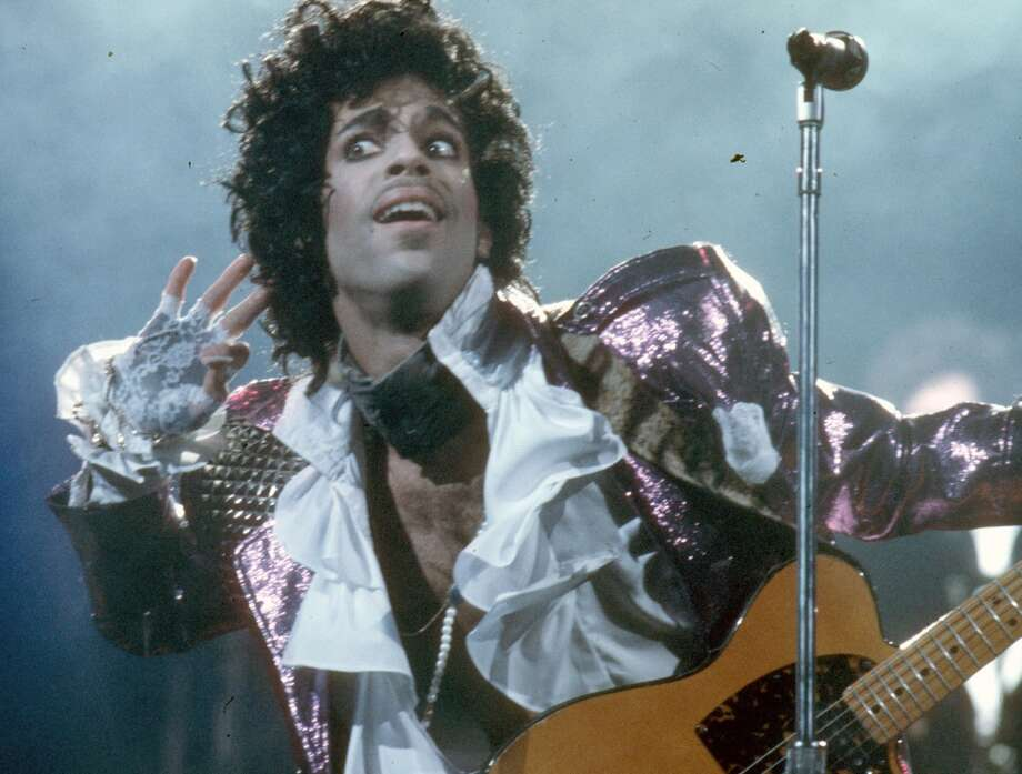 Prince performs live at the Fabulous Forum on February 19, 1985 in Inglewood, California. (Photo by Michael Ochs Archives/Getty Images)
