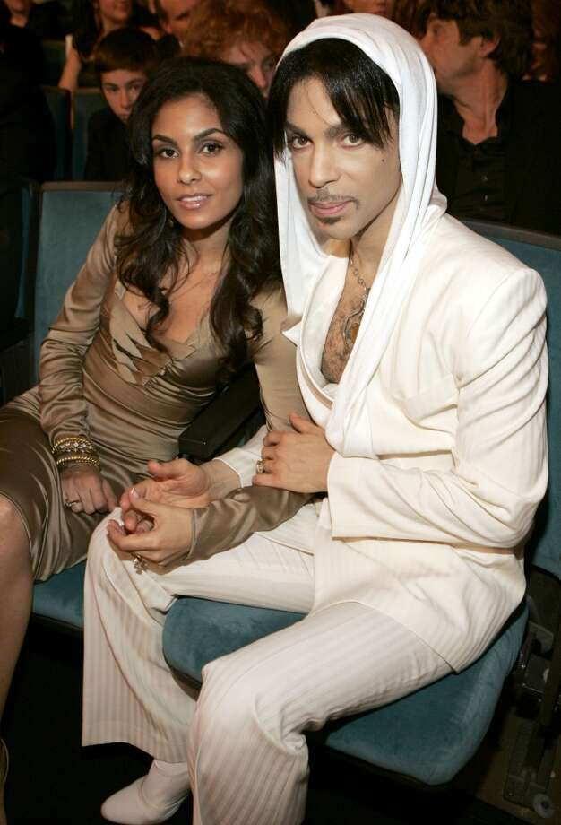 Prince (right) and Manuela Testolini during 31st Annual People\'s Choice Awards - Backstage and Audience at Pasadena Civic Auditorium in Pasadena, CA, United States. (Photo by KMazur/WireImage)
