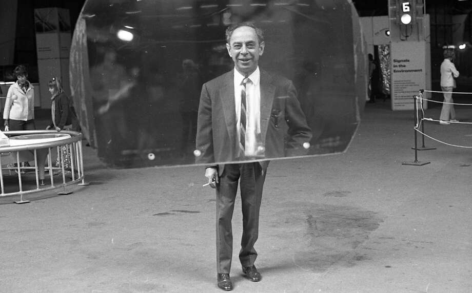 "July 10, 1970: Frank Oppenheimer (note the cigarette ... 1970s!) was the brother of J. Robert Oppenheimer. But he spent most of his career as an educator -- and the Exploratorium was his greatest passion. ""No one ever flunked in museum,\"" he told the Chronicle. RIP Frank Oppenheimer."