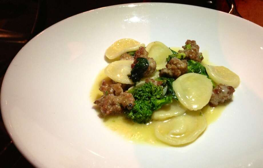 Orecchiette with sausage and broccoli rabe