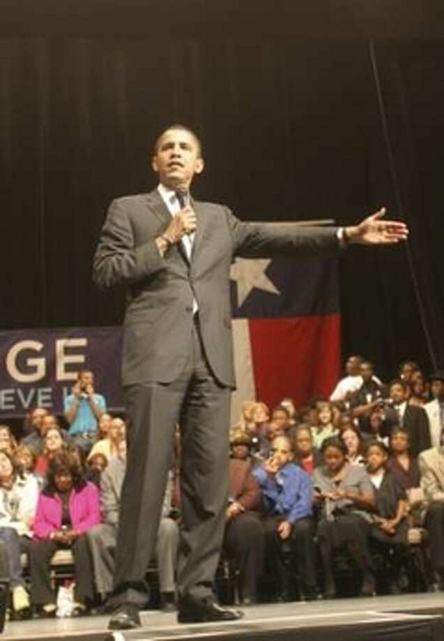 Barack Obama at a campaign event in Beaumont.