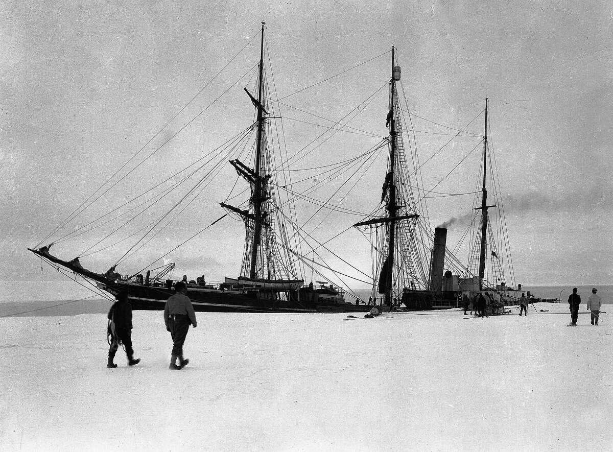 The Terra Nova berthed at Glacier Tongue.