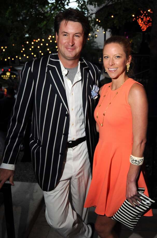 James Sivco and Sarah Smith at the Hotel Zaza's annual Spring Party Wednesday April 24, 2013.(Dave Rossman photo)