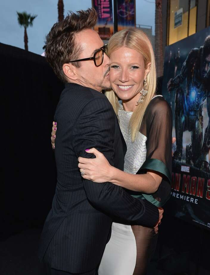 Actors Robert Downey Jr. and Gwyneth Paltrow attend Marvel's' Iron Man 3 Premiere at the El Capitan Theatre on April 24, 2013 in Hollywood, California.  (Photo by Alberto E. Rodriguez/WireImage)