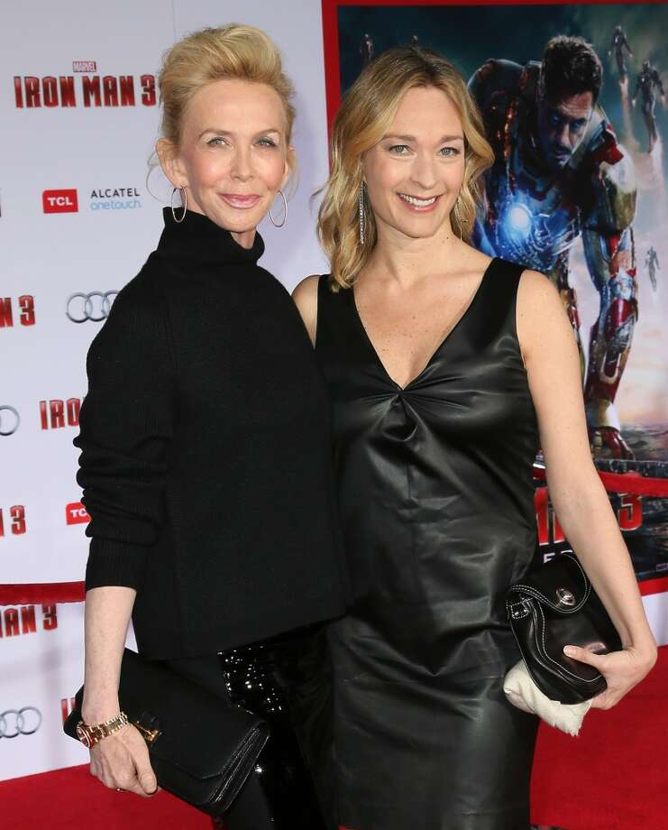 "HOLLYWOOD, CA - APRIL 24:  Trudie Styler (L) and producer Celine Rattray attend the premiere of Walt Disney Pictures' ""Iron Man 3"" at the El Capitan Theatre on April 24, 2013 in Hollywood, California.  (Photo by David Livingston/Getty Images)"