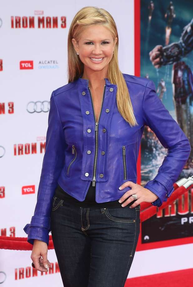 "HOLLYWOOD, CA - APRIL 24:  TV host Nancy O'Dell attends the premiere of Walt Disney Pictures' ""Iron Man 3"" at the El Capitan Theatre on April 24, 2013 in Hollywood, California.  (Photo by David Livingston/Getty Images)"