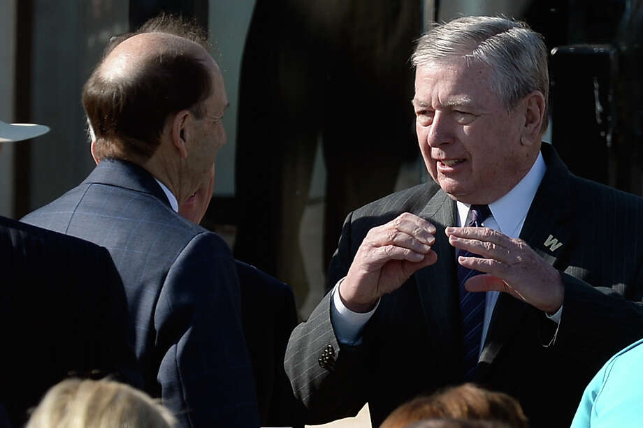 Former U.S. Attorney General John Ashcroft attends the opening ceremony of the George W. Bush Presidential Center April 25, 2013 in Dallas, Texas. The Bush library, which is located on the campus of Southern Methodist University, with more than 70 million pages of paper records, 43,000 artifacts, 200 million emails and four million digital photographs, will be opened to the public on May 1, 2013. The library is the 13th presidential library in the National Archives and Records Administration system. Photo: Kevork Djansezian, Getty Images / 2013 Getty Images