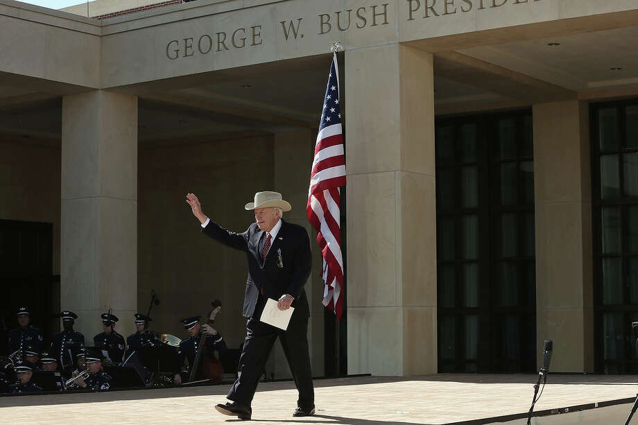 Former U.S. Vice President Dick Cheney attends the opening ceremony of the George W. Bush Presidential Center April 25, 2013 in Dallas, Texas. The Bush library, which is located on the campus of Southern Methodist University, with more than 70 million pages of paper records, 43,000 artifacts, 200 million emails and four million digital photographs, will be opened to the public on May 1, 2013. The library is the 13th presidential library in the National Archives and Records Administration system. Photo: Alex Wong, Getty Images / 2013 Getty Images