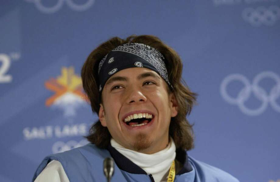 Apollo Ohno laughs as he fields questions from the media during the USOC press conference during the Winter Olympics at the Main Media Center in Salt Lake City, Utah. Photo: Stephen Munday, Getty Images / Getty Images Europe