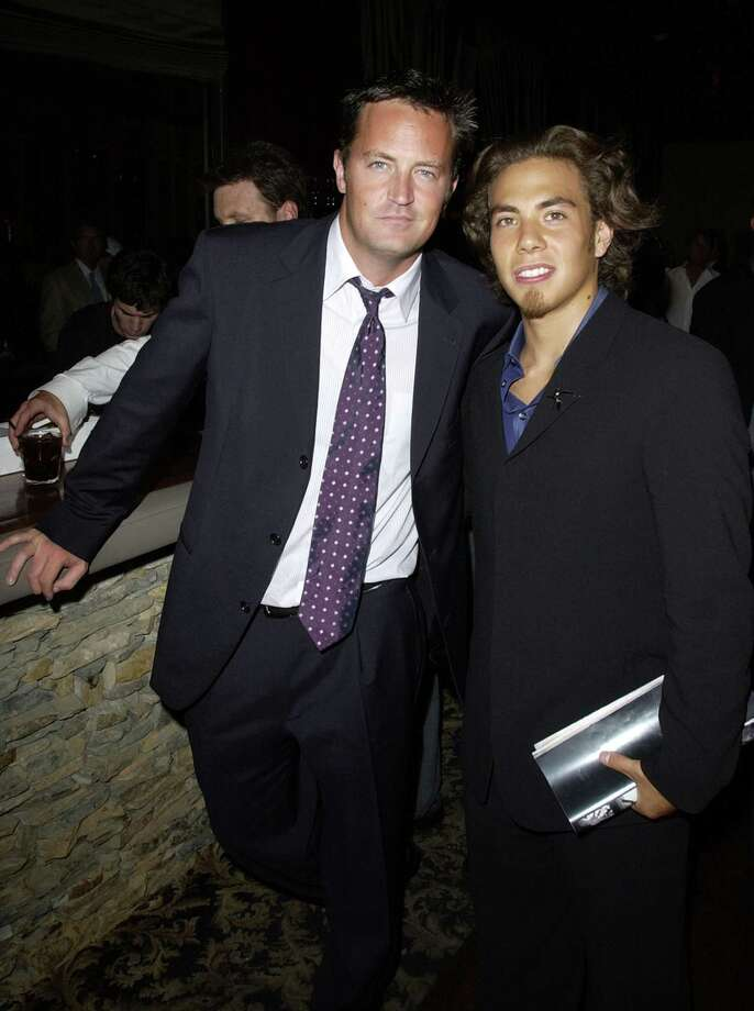 Matthew Perry and Apolo Anton Ohno during 2002 ESPY Awards. (Photo by M. Caulfield/WireImage) Photo: Michael Caulfield Archive, Getty Images / WireImage