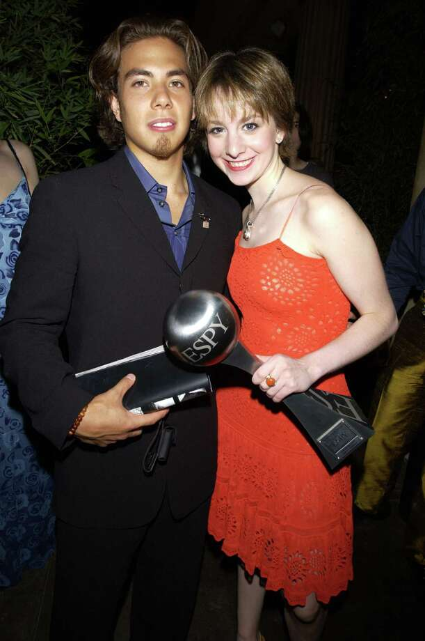 Apolo Anton Ohno and Sarah Hughes during 2002 ESPY Awards. (Photo by KMazur/WireImage) Photo: KMazur, Getty Images / WireImage