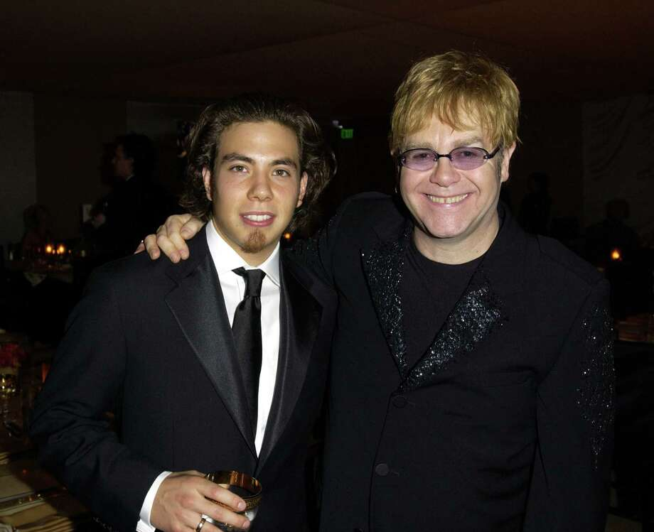 Apolo Anton Ohno pictured with Sir Elton John. (Photo by M. Caulfield/WireImage) Photo: Michael Caulfield Archive, Getty Images / WireImage