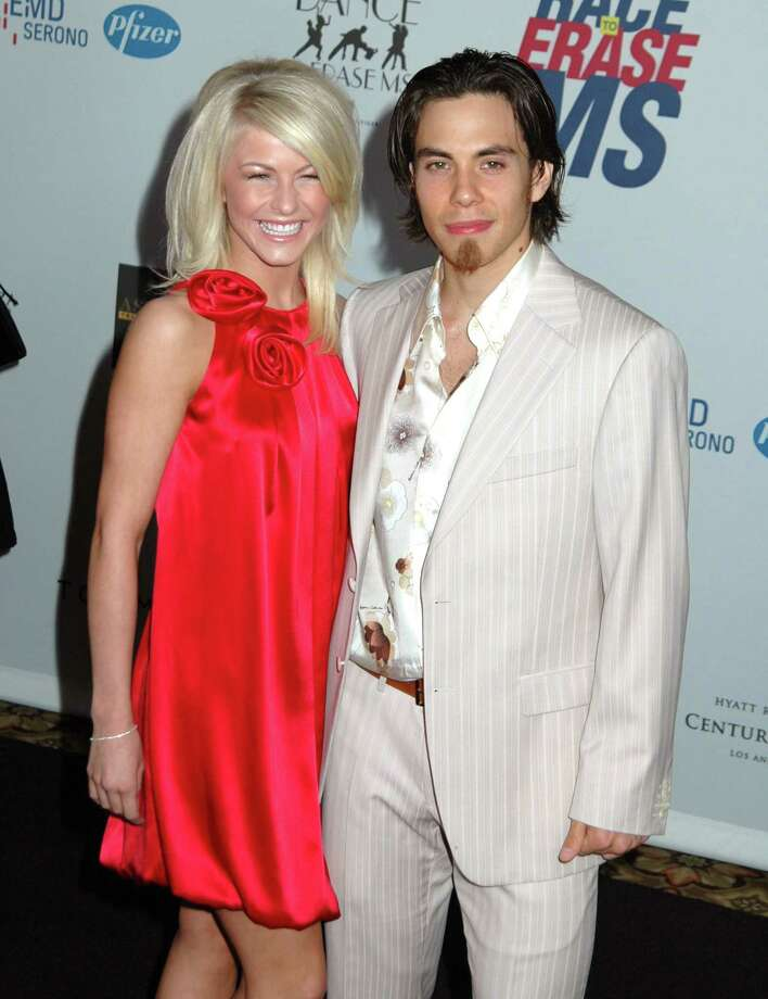"""Julianne Hough and Apolo Anton Ohno during 14th Annual Race to Erase MS Themed """"Dance to Erase MS"""" - Arrivals at Hyatt Regency Century Plaza in Century City, California, United States. (Photo by Barry King/WireImage) Photo: Barry King, Getty Images / WireImage"""
