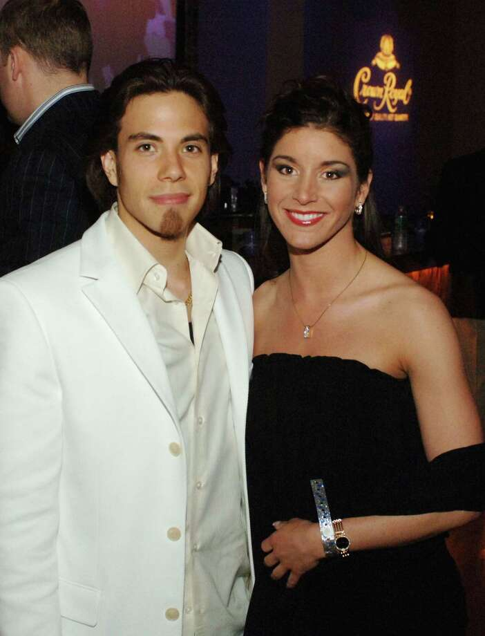 Apolo Anton Ohno and Allison Baver at the Crown Royal Playboy Club Kentucky Derby party held at Felt Nightclub on May 5, 2006 in Louisville, Ky. Photo: Jeff Gentner, Getty Images / 2006 Getty Images