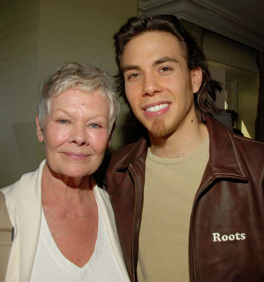 Judi Dench and Apolo Ohno during Luxury Lounge in Beverly Hills, Calif. (Photo by Mark Sullivan/WireImage) Photo: Mark Sullivan, Getty Images / WireImage