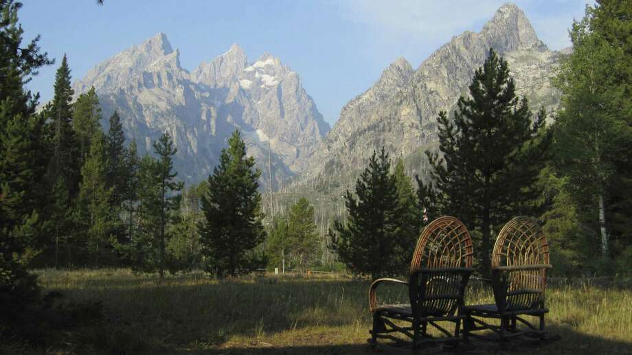 The view is the prime attraction at Jenny Lake Lodge at Grand Teton National Park in Wyoming. Photo: Josh Noel / Chicago Tribune