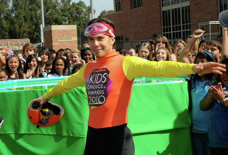 Speed skater Apolo Ohno onstage during a pre-filmed segment for Nickelodeon's 23rd Annual Kids' Choice Awards held at UCLA Pauley Pavillion on March 20, 2010 in Los Angeles. Photo: Charley Gallay/KCA2010, Getty Images / 2010 Getty Images