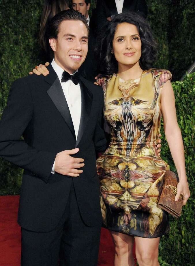 Apolo Anton Ohno and Salma Hayek attend the Vanity Fair Oscar Party 2010 held at the Sunset Towers Hotel on March 7, 2010 in West Hollywood, Calif.  (Photo by Gregg DeGuire/FilmMagic) Photo: Gregg DeGuire, Getty Images / 2010 Gregg DeGuire
