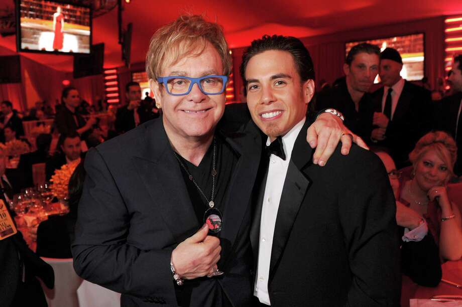 Sir Elton John and Apolo Ohno attend the 18th Annual Elton John AIDS Foundation Oscar party held at Pacific Design Center on March 7, 2010 in West Hollywood, Calif.  (Photo by Dimitrios Kambouris/WireImage) Photo: Dimitrios Kambouris, Getty Images / 2010 WireImage