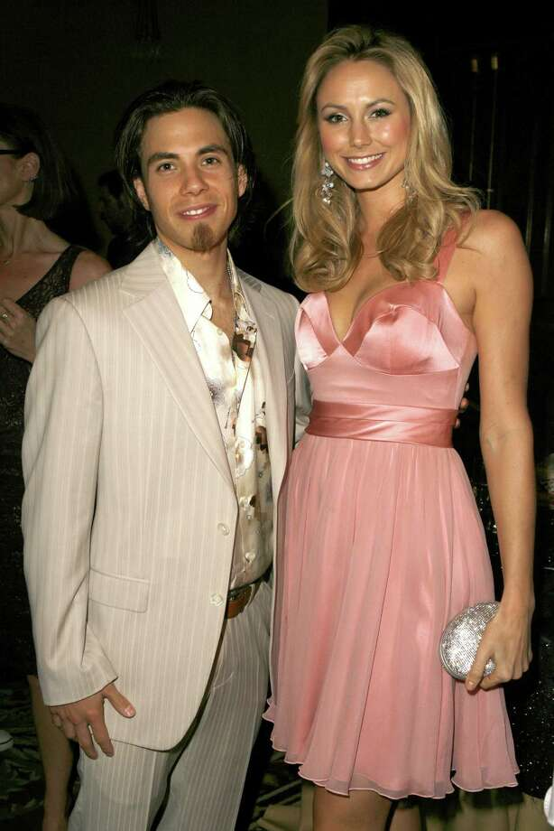 Apolo Anton Ohno and Stacy Keibler (Photo by Jeff Vespa/WireImage) Photo: Jeff Vespa, Getty Images / WireImage