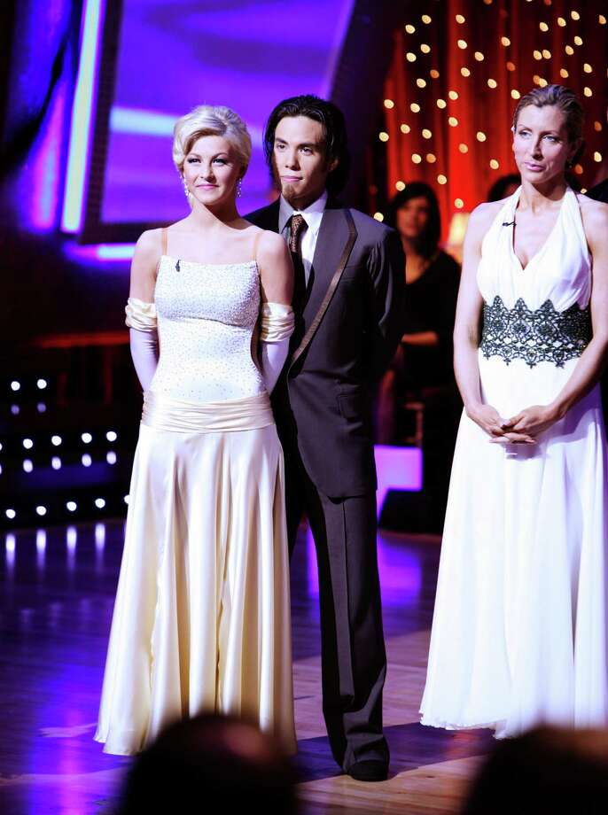 "Apolo Ohno and Julianne Hough pictured on ""Dancing with the Stars."" Photo: CAROL KAELSON, Getty Images / © 2007 American Broadcasting Companies, Inc. All rights reserved. NO ARCHIVE. NO RESALE."
