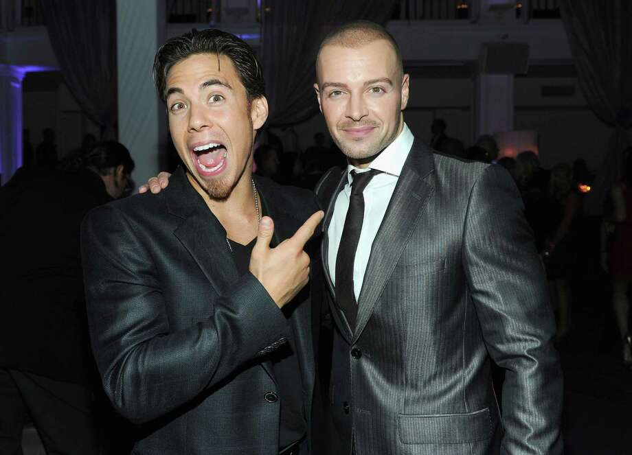 "Apolo Anton Ohno and actor Joey Lawrence attend ABC's ""Dancing With The Stars"" 200th episode party on Nov. 1, 2010 in Los Angeles. Photo: Alberto E. Rodriguez, Getty Images / 2010 Getty Images"