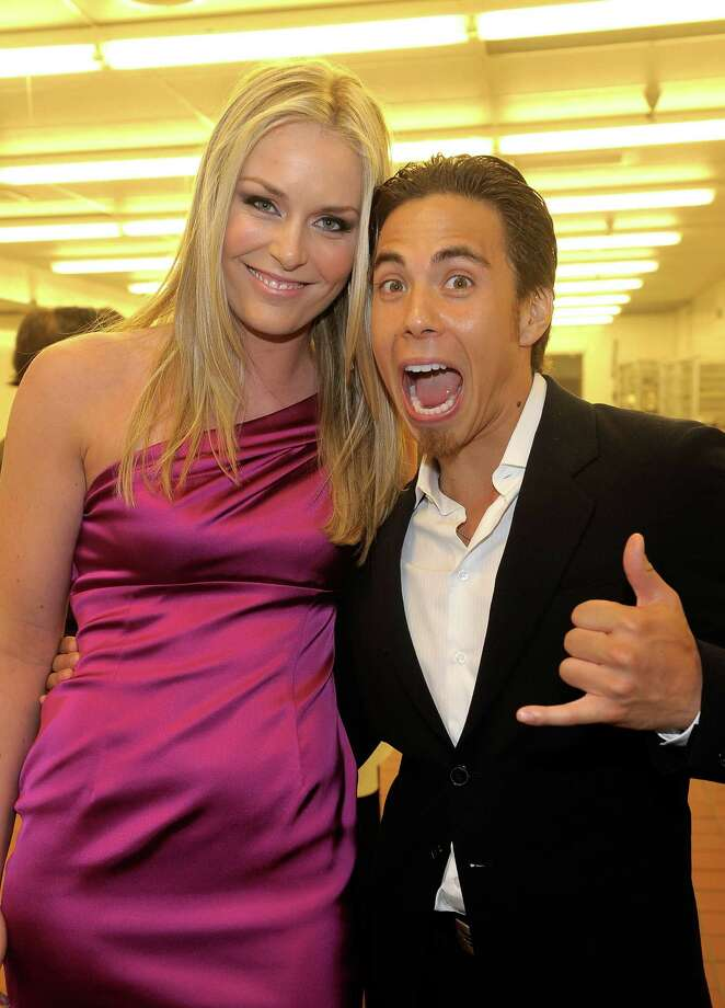 Olympic Gold Medalist Lindsey Vonn and Olympic gold medalist Apolo Ohno attend the 17th Annual Race to Erase MS event co-chaired by Nancy Davis and Tommy Hilfiger at the Hyatt Regency Century Plaza on May 7, 2010 in Los Angeles.  (Photo by Charley Gallay/WireImage) Photo: Charley Gallay, Getty Images / 2010 WireImage