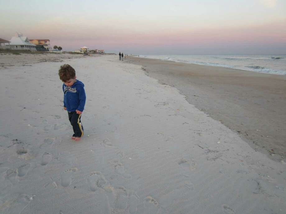 Rushton Trombley's parents aren't the only ones who enjoyed the tranquility of Apalachicola, Fla., beaches. (Leigh Hornbeck)