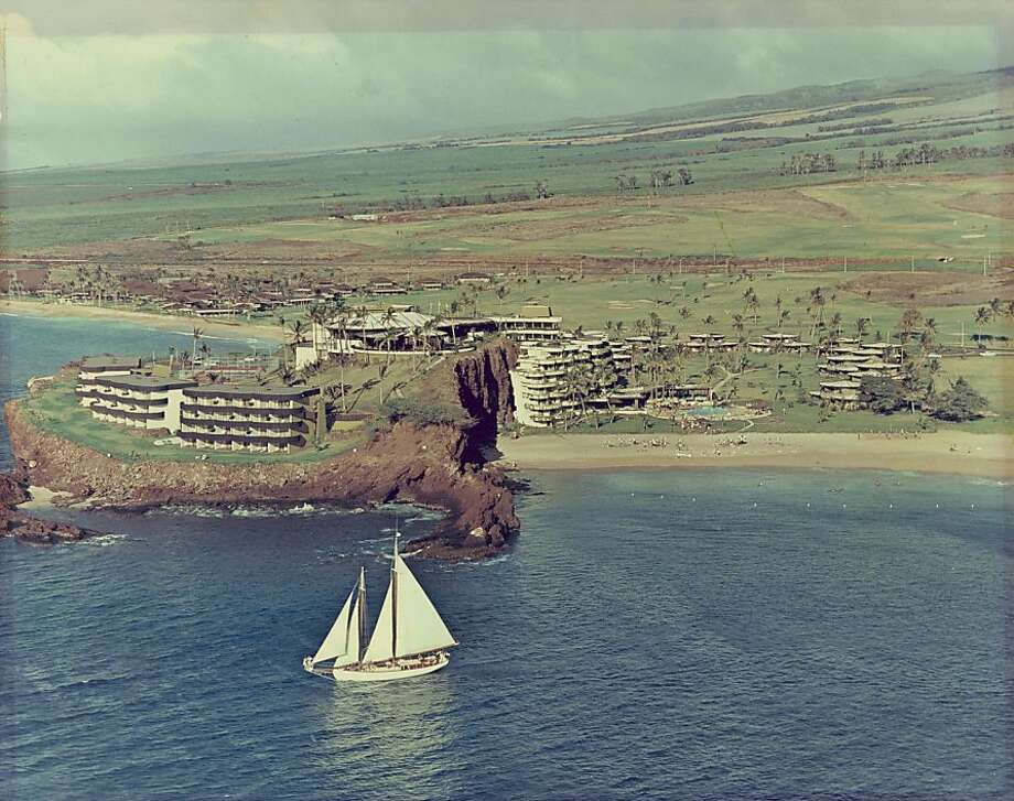 The land around the Sheraton Maui has been significantly altered since this undated photo was taken, but the sea and the cliffs of Black Rock, called Pu'u Keka'a in Hawaiian, look the same today. Photo: Sheraton Maui Archives