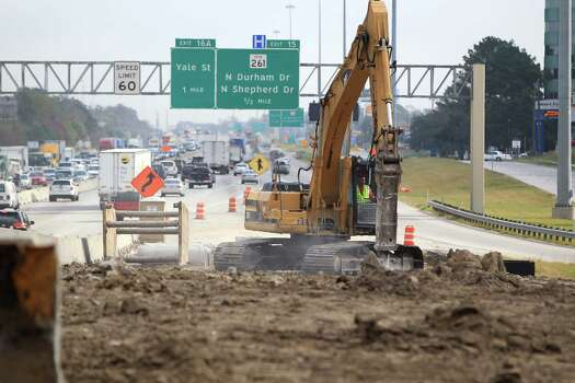 6. Construction, construction and construction: Because Houston is constantly growing, you'll hardly find a major highway or street that isn't undergoing some kind of construction or road improvement.   Photo: Karen Warren/Chronicle